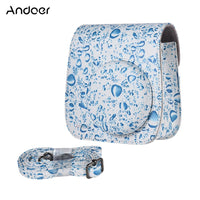 Shoulder Camera Bag Protective Case Colorful Forest Patterns Leather Camera Bag for Fujifilm