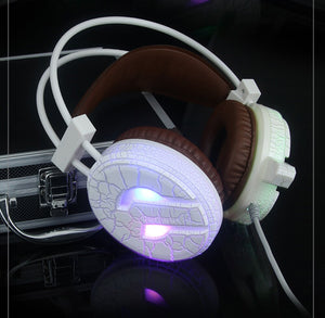 Professional Gaming Headset LED Light High Bass Noise Cancelling Headphone with Microphone H6 For Computer 15J Drop Shipping