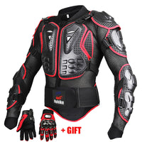 Motorcycle Jackets Full body Protection BLACK RED ARMOR turtle Moto jackets men motorcycle