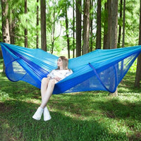 VILEAD Automatic Unfolding Hammock with Mosquito Stable Ultralight Portable Hiking Hunting Camping Cot Sleeping Bed 290*140 cm