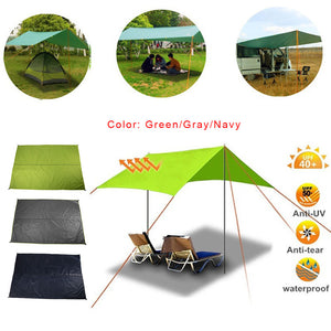 3 Color 190TPU2000 Waterproof Travel Picnic Cloth Tent Cloth Practical Camp Camping Cloth Sturdy Mat Moisture Proof