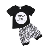 2019 Newborn Baby  Boy Fashion Clothes Set Infant Toddler Letter Print T-shirt Harem Loose Casual Pants Outfit