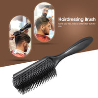 1pc Hair Comb Cushion Brush Anti-static Hairbrush 9 Rows Plastic Dentangling Hairdressing Scalp Massage