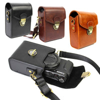 Camera Bag PU Leather Case Cover for Canon Powershot G9x II G7x Mark II III SX740 SX730 SX720 SX710 SX700 SX620 SX610 SX600 HS