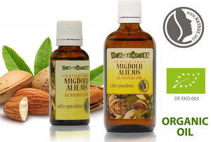 Organic Sweet Almond Oil | 100% pure, cold pressed, undiluted 30ml