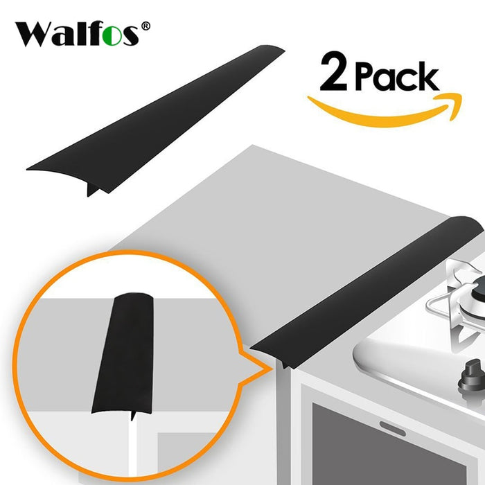 WALFOS 2 Pcs / lot Silicone Stove Counter Cover Lacuna Flexible Silicone Gap Sealing Covers