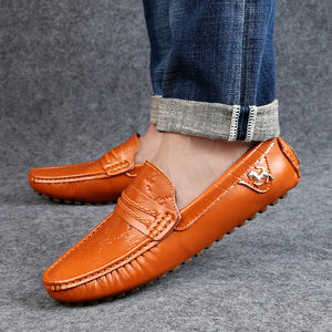 Big Size 37~49 High Quality Genuine Leather Men Shoes Soft Moccasins Loafers Fashion