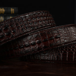 SAN VITALE 3D crocodile famous brand Leather Belt Designer Men Belts Luxury Brand smooth Buckle Belts For man ceinture homme