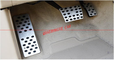 QDAEROHIVE AT Brake Footrest Pedal Pedales Stickers Plate Pads Car Accessories For Toyota Land Cruiser 200