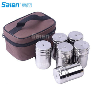 Gift Set Spice Jar With Shaker Tops Food Seasoning Dressing Bottle with Travel Bag