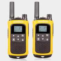 License-free FRS/GMRS Walkie Talkies Long Distance Two Way Radio with Rechargeable Battery 0.5W 22CH VOX LCD Screen Socotran T80 (Yellow American)