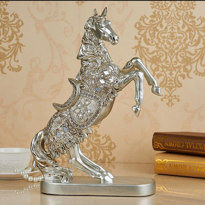 Classical Home Furnishing Craft Decoration Artificial Horse Figurine Home Ornament Resin