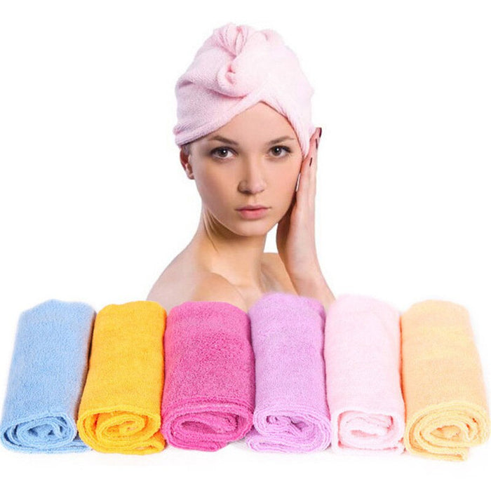 5Pcs/lot Home Textile Solid Hair Turban Thicken Quickly Microfiber Dry Hair Hat Wrapped Towel