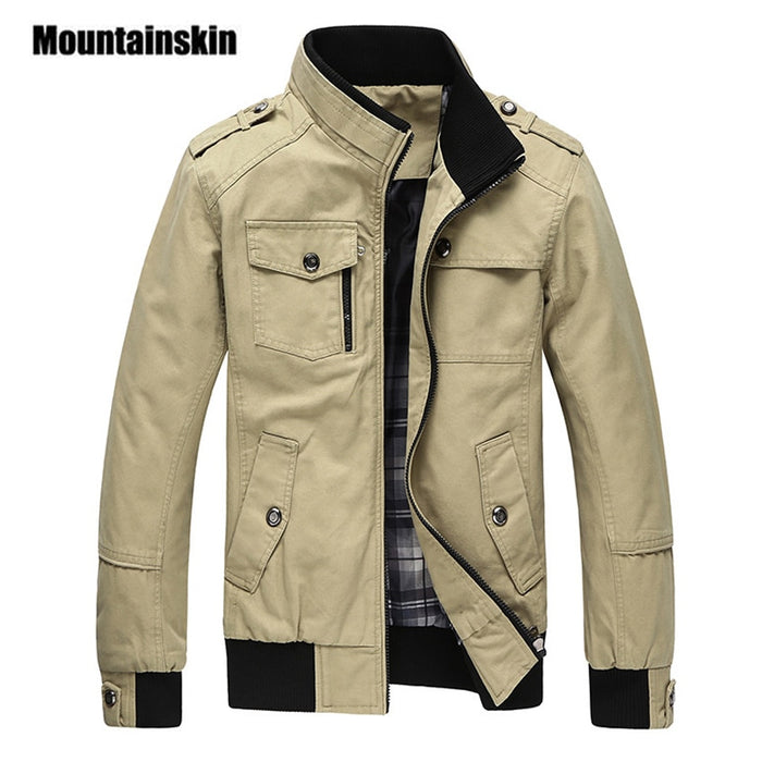 Mountainskin Casual Men's Jacket Spring Army Military Jacket Men Coats Winter Male