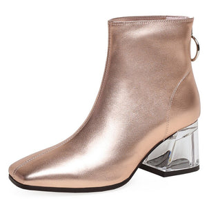 FEDONAS Autumn Winter Fashion Genuine Leather Women Ankle Boots Back Zipper