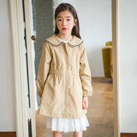 New Girls Autumn Coat 2018 Children Outwear Embroidered Love Heart Pattern Baby Jackets Kids Coat Toddler Long Sleeve Tops