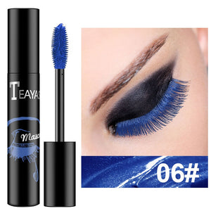 1PC Eyes Makeup Color Mascara Waterproof Easy Remove Blue White Black Purple Mascara