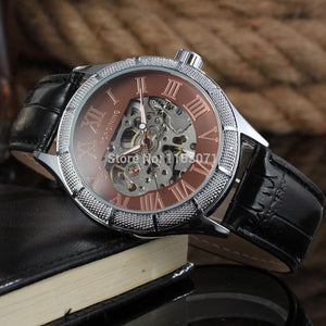 FSG8085M3S3  Forsining factory New Automatic skeleton men watches with black leather strap  gift box  free shipping  whole sale