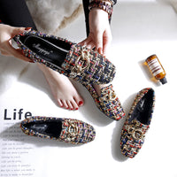 Women Flat Shoes Winter warm fur flats Lady Slip On Breathable Loafers Plus Size 43 Canvas Shoes Casual Footwear Espadrilles