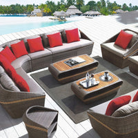 New arrival all weather wicker garden outdoor sofa set furniture clearance
