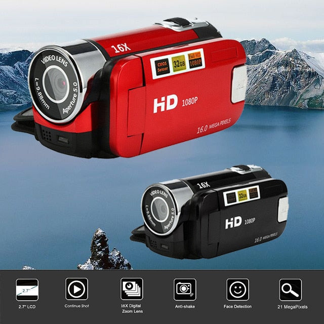 Video Camcorder HD 1080P Handheld Digital Camera 16X Digital Zoom mini camera