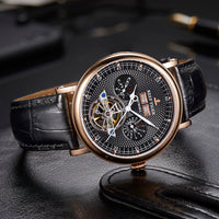Reef Tiger/RT Top Brand Luxury Watch Mens Rose Gold Tourbillon Watch Multifunction Automatic Watches Sapphire Glass RGA1903