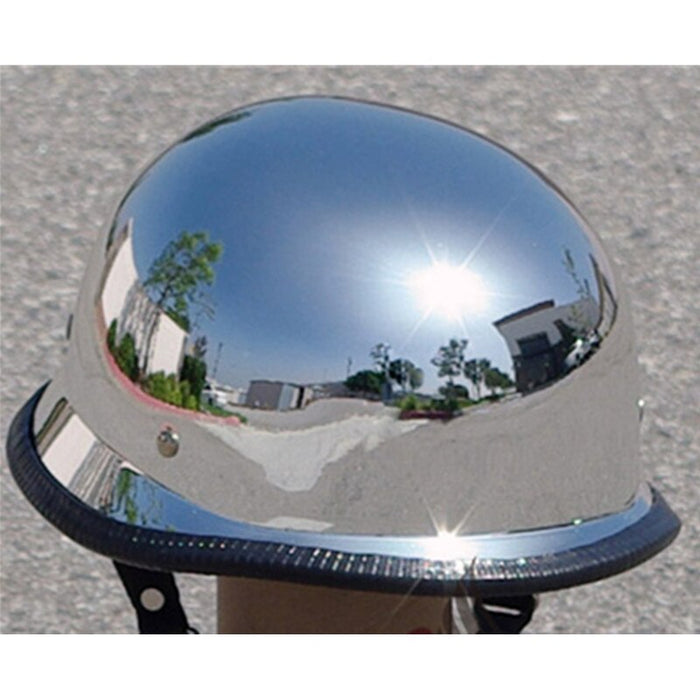 Capacete casco German MILITARY DOT Approved china chrome Motorcycle helmet