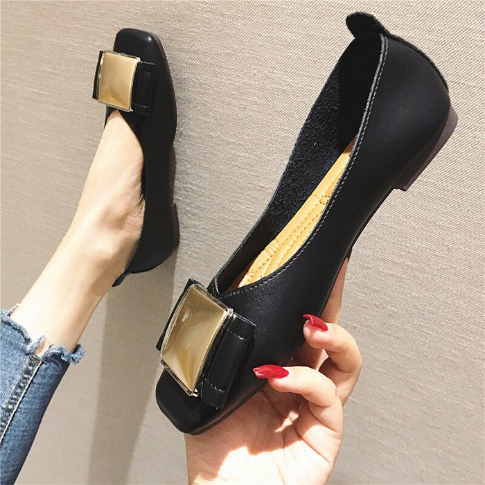 Luxury Women Shoes Office Ladies Flats Elegant Fashion Brand Slip on Shoes for Women Flats