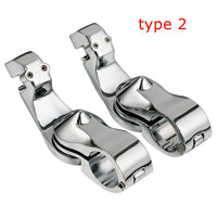 "Motorcycle Passenger Floorboards 1.25"" Highway Foot Pegs Clamps For Harley Streamliner Touring"