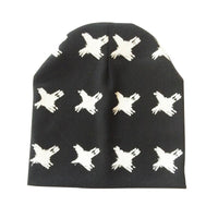 Brand Baby Hat Knit Cotton Cartoon Bear Batman Print Baby Caps For Boys Girls Spring Autumn
