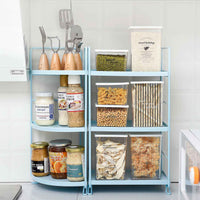 3 Layers Iron Storage Shelf Bathroom Organizer Kitchen Rack Stand Holder Bookshelf Desktop Plastic Storage Rack Corner Shelves