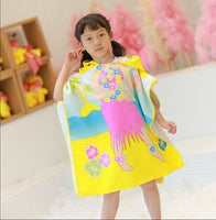 Baby Hooded Bath Towel Poncho Children Kids Bathrobe Towels Bath Robe Quick Dry Absorbent