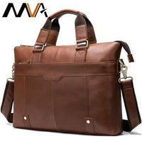men's genuine leather briefcases man bags briefcase laptop bag leather briefcase business messnger bag for men briefcases   7108