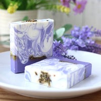 Lavender Handmade Soap Petal Milk Bath Face Soap Skin Moisturizing Deep Cleaning Soap