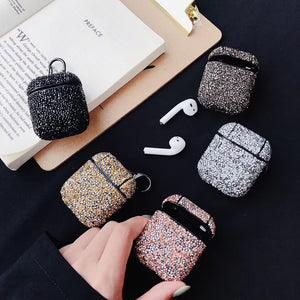 Cute sexy glitter sequins bling hard protection Wireless Earphone Charging case for AirPods 1 2 Bluetooth Headset cover