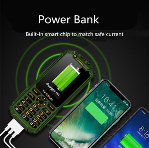 Outdoor shockproof Dustproof Mobile Phone FSMART TKEXUN Q8A Power Bank Celulares 3.0 Inch flashlight Wifi Fast Dial 3G Cellphone