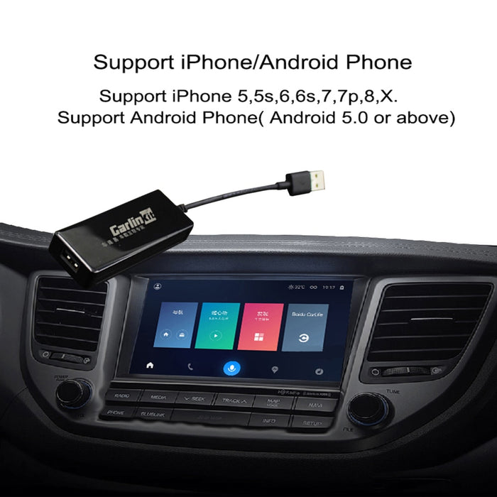 Plug and Play Smart Link USB Apple CarPlay Dongle for Android Navigation Player system