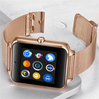 LIGE 2019 New Smart Watch Digital Watch Men Stainless Steel Bluetooth Watch Mobile Phone Call SIM TF card camera for Android+Box