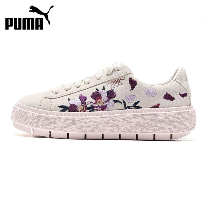 Original New Arrival 2018 PUMA Platform Trace Flowery Women's Skateboarding Shoes Sneakers