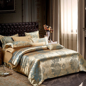 Liv-Esthete Euro Jacquard Bohemia Luxury Bedding Set Double Queen King Duvet Cover Flat Sheet Decorative Bed Linen For Wedding