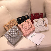 Luxury Brand Tote bag 2019 Fashion New High Quality Patent Leather Women's Designer Handbag Lingge Chain Shoulder Messenger Bag