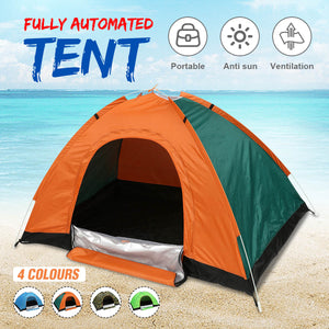 Protable Outdoor Tents Camping Beach Tent Waterproof for Sun Shelter Travelling Hiking Large Space Green / Orange / Camouflage