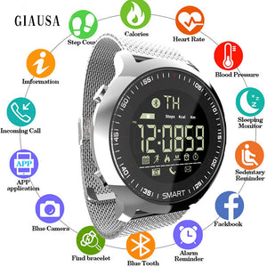 Hot Sell Sport Watch Bluetooth Waterproof Men Smart Watch Digital Ultra-long Standby Support Call and SMS Reminder SmartWatch