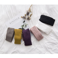Cotton Knitted Baby Pants Skinny Baby Girl Leggings Ankle-length Flexible Warmer Kids Pants Spring Autumn Children 0-3Y