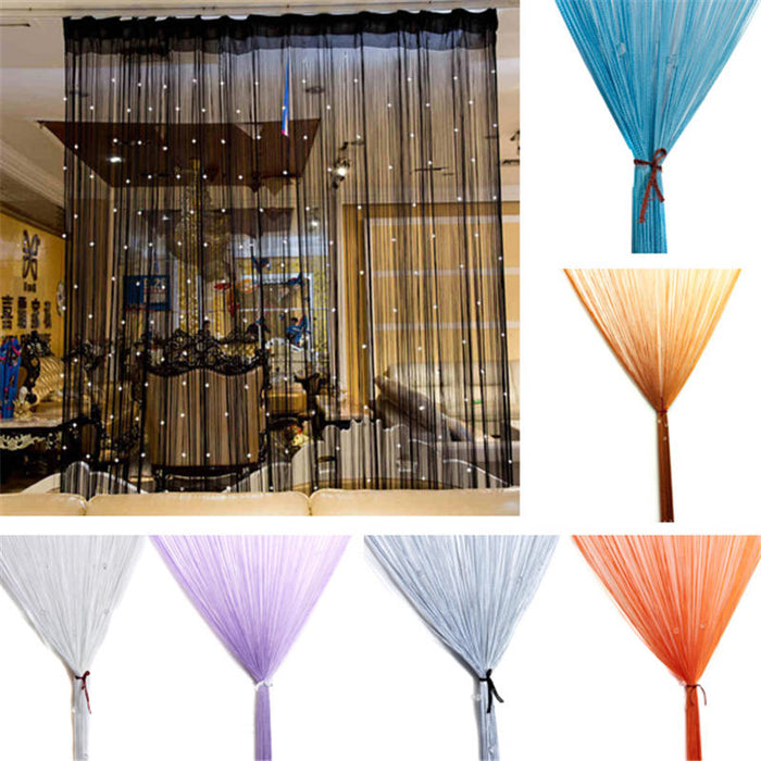 Curtain String Door Window Room Panel Glitter Crystal Ball Tassel String Line Door Window Curtain