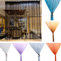 Beaded Curtain String Door Window Room Panel Glitter Crystal Ball Tassel String Line Door Window Curtain Room Divider Decorative