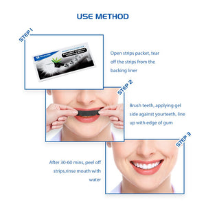 Tongwode Teeth Whitening Strip Activated Charcoal White Teeth Sticker Strips Dental Bleaching Device Oral Hygiene Care Strips