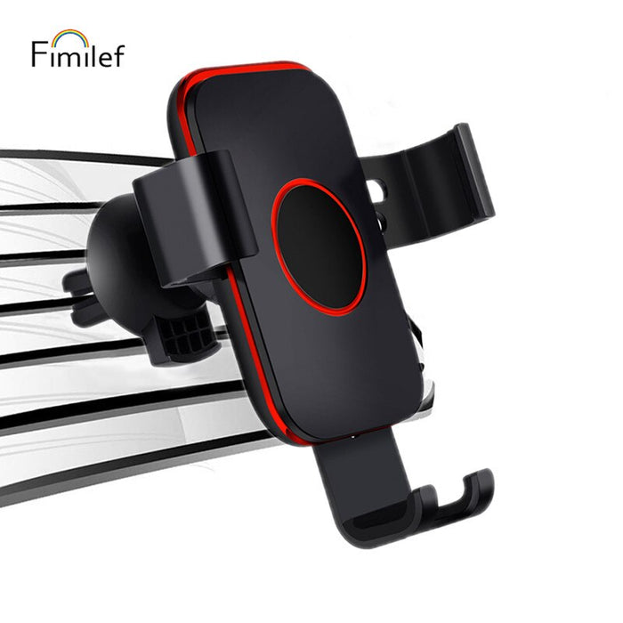 Fimilef Universal Car Phone Holder Air Vent Phone Holder Mobile Stand for iPhone Huawei