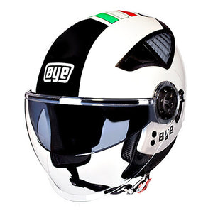 BYE New Motorcycle Helmet DOT Crash Hemelt Double Lens Breathable Comfort Half Chopper Motorbike Moto Helmet For Motorcycle