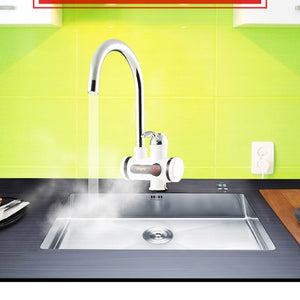 ATWFS 110V 2500W Instantaneous Water Heater Faucet Water Heaters Hot and Cold for Kitchen Instant Tankless Electric Tap Heating